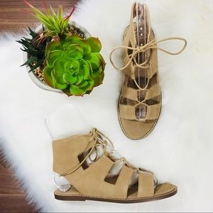 Sole Society Cady Suede Lace-up Sandals